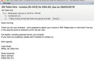Gefakte Rechnung für Toilettenhäuschen 310x205 - Banking-Trojaner Dridex schlägt wieder zu