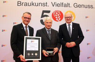 """Degussa überreicht limitierten Gold- und Silber-Thaler """"500 Jahre Reinheitsgebot"""" an Luitpold Prinz von Bayern"""