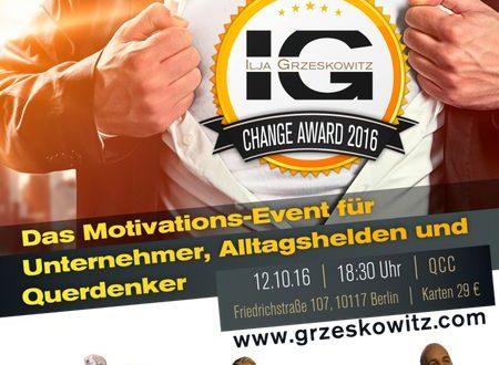 Der Change Award 2016: DAS Event für Veränderungs-Profis!